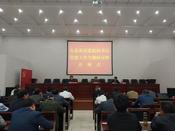全县基层党组织书记党建工作专题研讨班开班